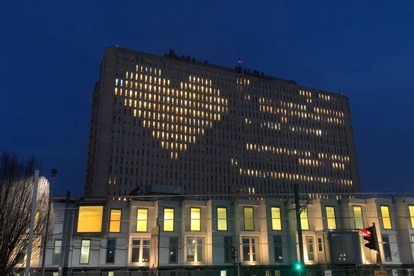 Le CHU de Caen ce vendredi 14 février dans la soirée