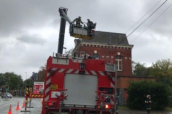 Une intervention des pompiers à Saint-André-Lez-Lille.