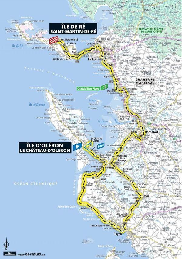 La carte des étapes en Poitou-Charentes
