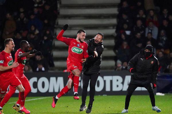 Le bonheur de Jérémy Gelin qui propulse le Stade rennais en 1/4 de finale de la Coupe de France