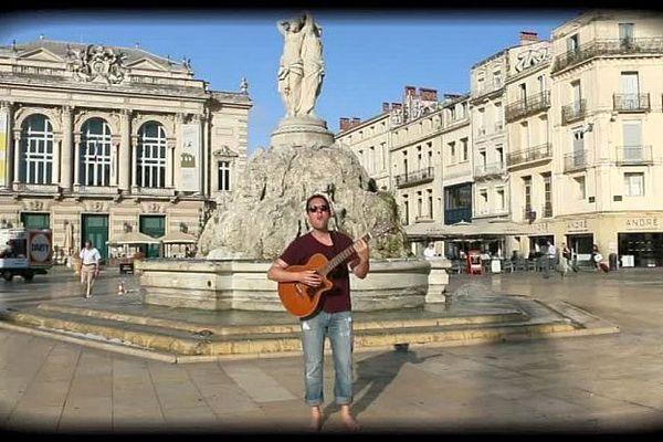 Extrait du clip de Gwen à Montpellier - 2016.