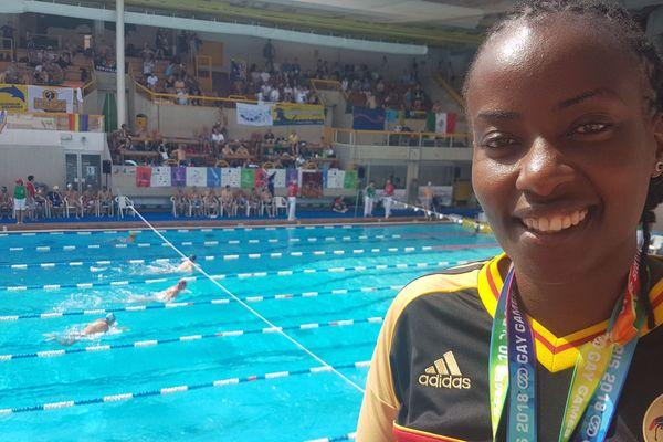 Clare Byarugaba, activiste LGBT en Ouganda. Elle participe à ses premiers Gay Games à Paris 2018.