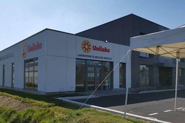 Unilabs à Orchies, où un drive est en cours d'installation
