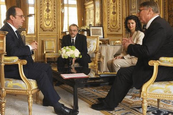 Le Président de la Région Limousin ce lundi dans le bureau du Président de la République.
