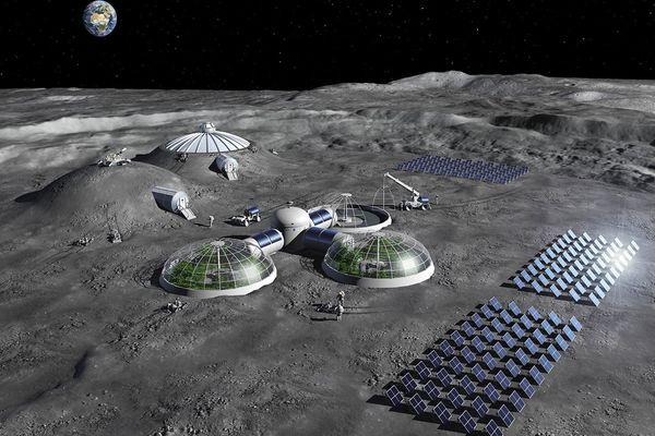 Base lunaire (vue d'artiste)