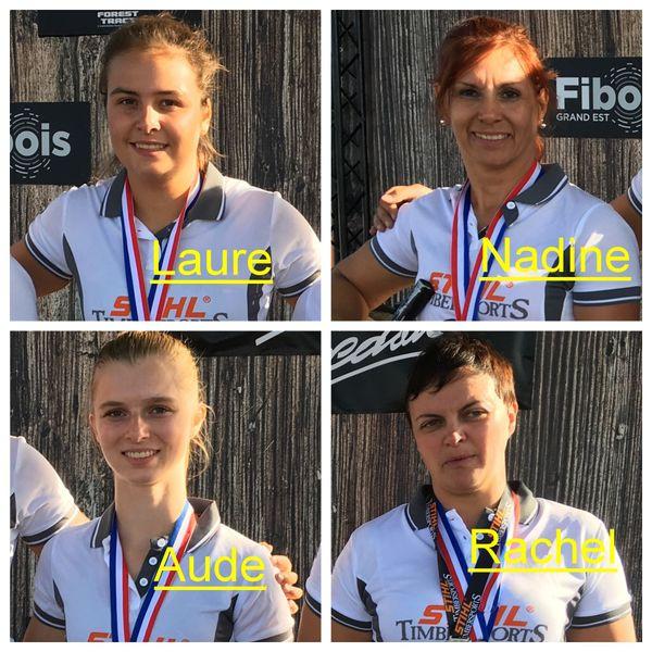 la fine équipe alsacienne du Timbersports féminin français