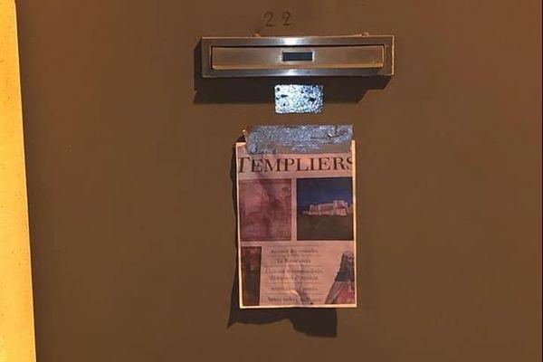 Le document scotché sur la porte de la mosquée de Castelsarrasin a été découvert samedi dernier.