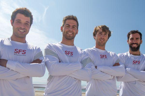 Sofian Bouvet, Gaultier Germain, Achille Nebout et Noe Delpech forment l'équipage SFS Voile 2017