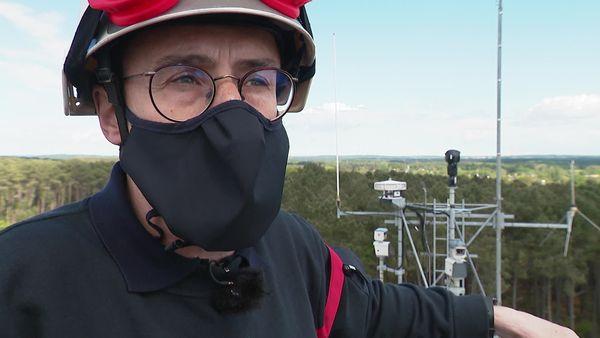 Le commandant Rallu, qui a dirigé la mise en place de ce dispositif de surveillance.