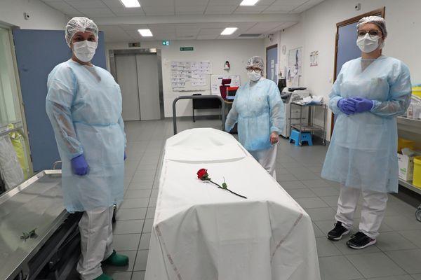 Service mortuaire de l'hôpital Emile Muller de Mulhouse.