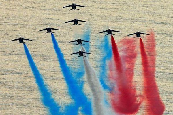 La Patrouille de Frnace survolera le Mont-Saint-Michel puis Utah beach le 2 juillet prochain à l'occasion du Grand départ du Tour de France dans la Manche