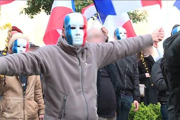 La Ligue du Midi lors d'un rassemblement devant la préfecture de Montpellier en hommage au gendarme tué lors de l'attentat de Trèbes en 2018