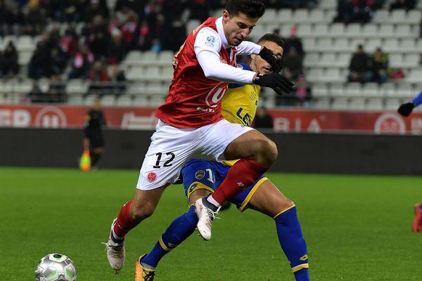 Le Stade de Reims face à Sochaux, lors de la 25e journée de Ligue 2.