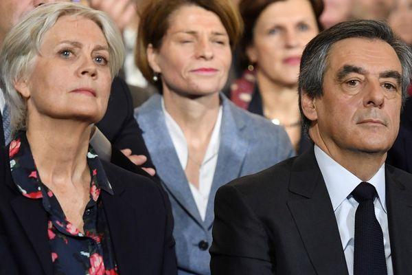 Pénélope et François Fillon le 29 janvier 2017