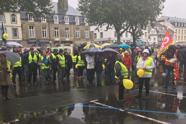 La mobilisation pour les services publics à Lannion ce samedi 12 octobre