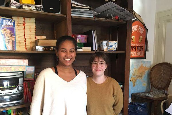 A gauche, Cathy Médar (à gauche) et Berthille Moreau-Printemps, co-fondatrices de l'association Toutes à l'abri