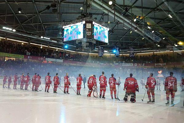 L'équipe de Hockey des Brûleurs de Loups de Grenoble
