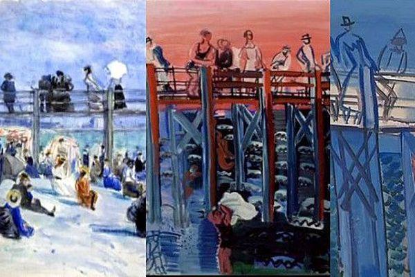 L'estacade et la plage du Havre, l'un des sujets récurrents de Raoul Dufy