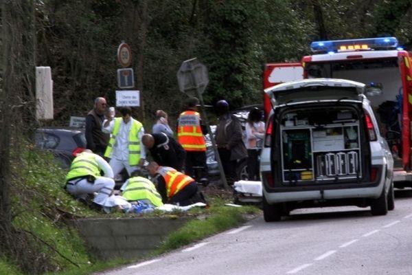 L'accident s'est produit sur la route de Vignarnaud, à l'entrée de Montauban