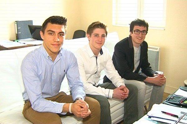 Mikaël Bordas, Geoffrey Cordeau et Manuel Costes, fondateurs de Wornet, se sont rencontrés à l'IUT de Limoges.