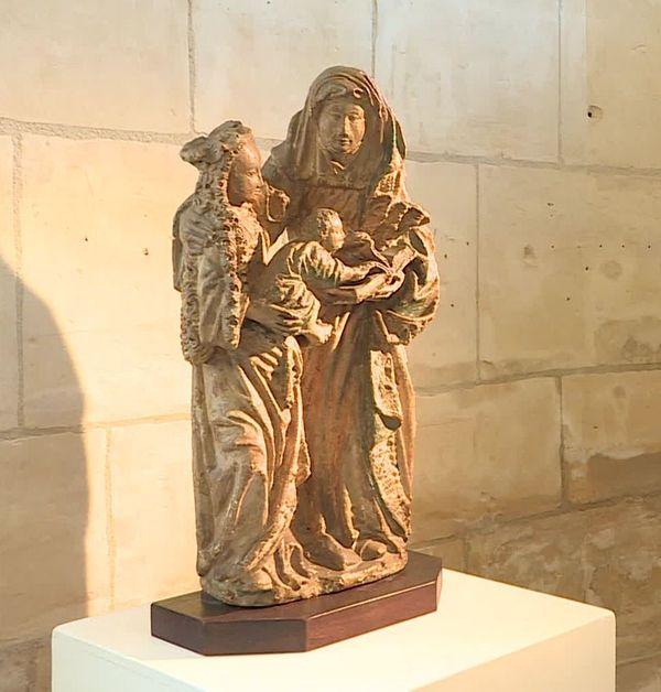 Dérobée en 1968 dans l'église Saint Martin de Laon, cette statue a été récemment retrouvée par les autorités belges.
