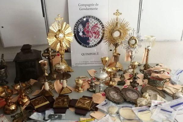 Une partie des objets dérobés a été récupérée par les gendarmes de Quimperlé