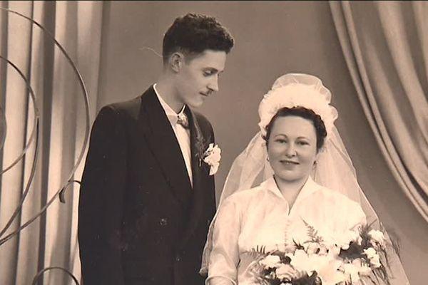 Odette Lafont et son mari, Pierre