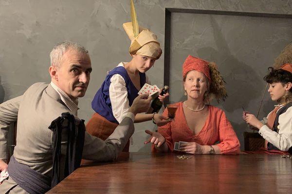 """La reconstitution du  """"Tricheur à l'as de carreau"""" par la famille Mehl a été remarquée par le magazine Historia"""