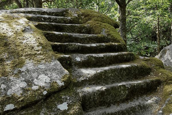 La pierre aux neuf gradins à Soubrebost en Creuse