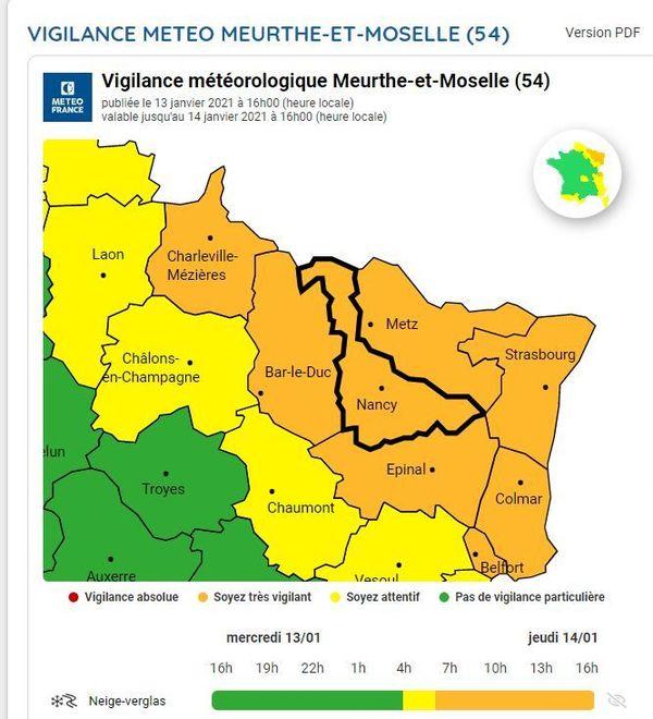 Météo France alerte au fort risque de chutes de neige.