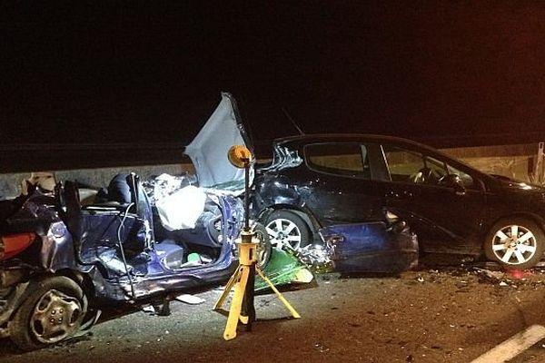 Quatre véhicules sont entrés en collision sur l'A6, au PK 349, à la hauteur de la commune de Sennecey-le-Grand, en Saône-et-Loire.