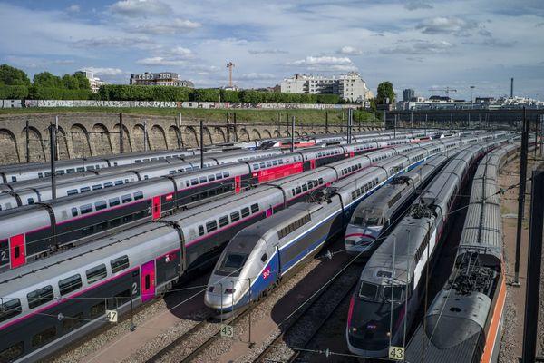 Des trains stationnés pendant le confinement - Photo d'illustration