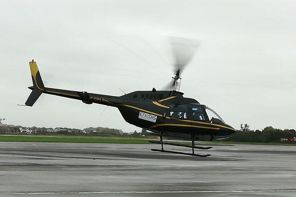 Un Bell 206 pour surveiller l'état des lignes moyenne tension