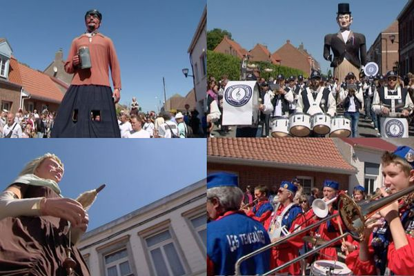 Parade des géants à Steenvoorde dimanche 7 juin 2015