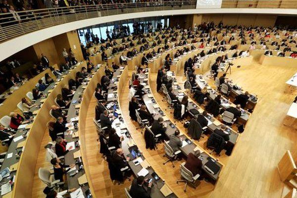 Lyon, le 4 janvier 2016 : première session pour le Conseil Régional d'Auvergne-Rhône-Alpes.
