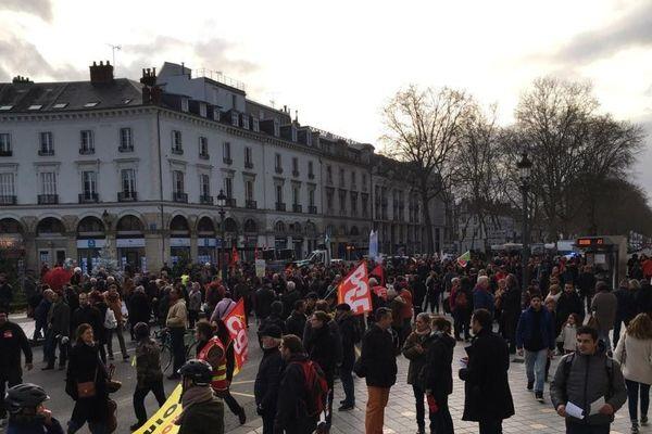 14/12/2019. Manifestation contre la réforme des retraites à Tours