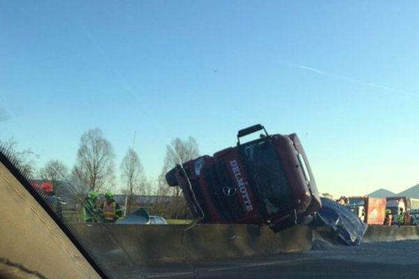 Ce lundi matin, sur l'A21.