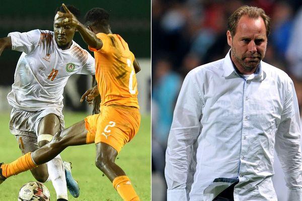 Les Nigériens, entraînés par Jean-Guy Wallemme (à droite, image d'archives), se sont inclinés face à la Côte d'Ivoire.