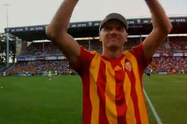Tony Vairelles, à Lens (Stade Bollaert-Delelis) en juillet dernier.