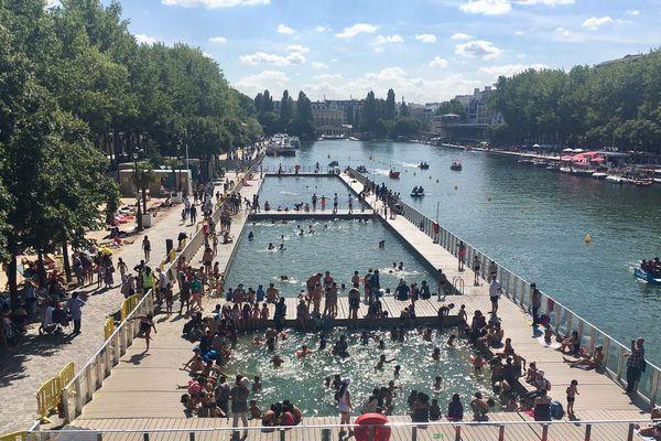 La baignade est ouverte à Paris-Plages, depuis le 17 juillet