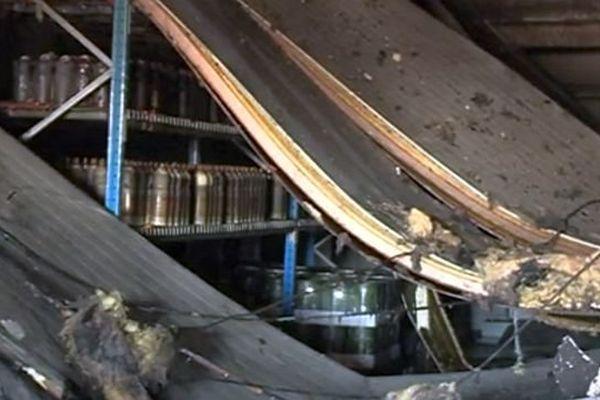 Nîmes - un entrepôt du centre-ville victime d'un incendie - 6 novembre 2015.