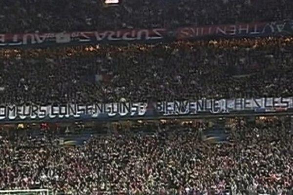 La banderole anti-ch'ti le jour de la finale de la Coupe de la Ligue en 2008.