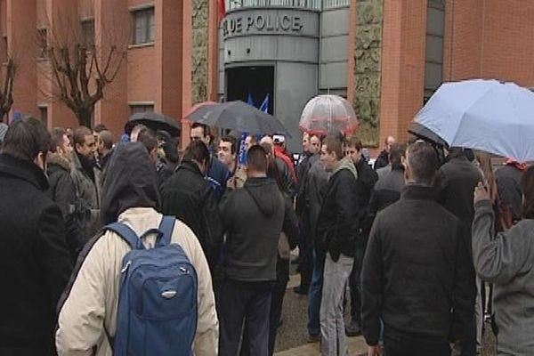 Le rassemblement toulousain des policiers en colère