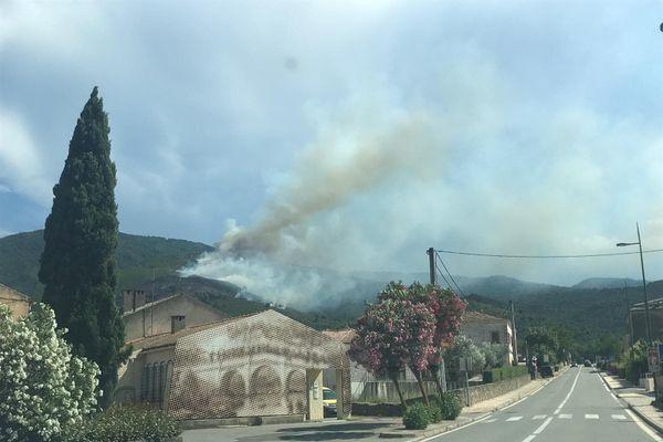 Un feu de forêt s'est déclaré ce lundi à Castellu di Rustinu