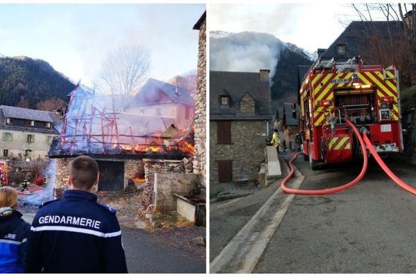 Cinq maisons ont pris feu, ce samedi, à Bourg-d'Oueil.