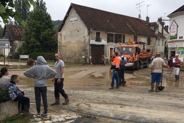 Le village de Bellot, après les inondations, le 6 juin 2018.