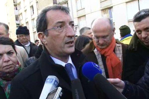 François Lamy, ministre de la Ville en visite à Montpellier - archives