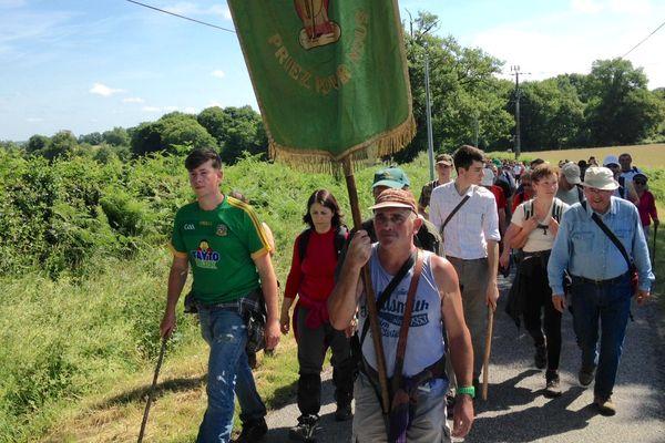 Pour les pèlerins, c'est un chemin spirituel et physique. 220 personnes ont participé à la procession cette année.