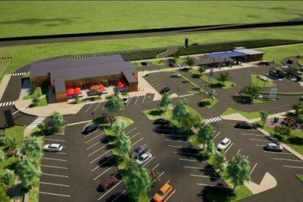 Les prochaines installations devraient être une station essence et deux restaurants.