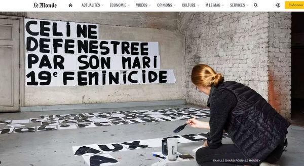 Le Monde remporte le Visa d'Or de l'info numérique avec les clichés de Camille Gharbi illustrant le dossier sur les féminicides.
